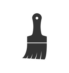 paint brush black icon vector image