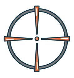 paintball sight icon cartoon style vector image