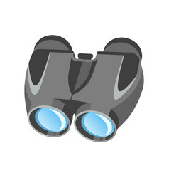 Pair of modern binoculars with powerful zoom in vector