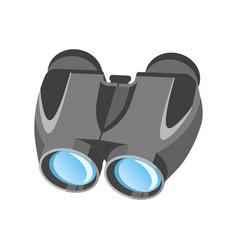 Pair of modern binoculars with powerful zoom vector