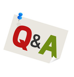 Question answer pushpin vector