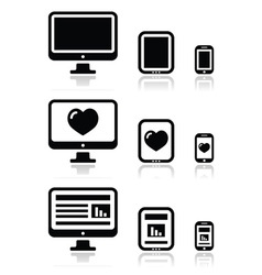 ReResponsive website design - screen icons vector