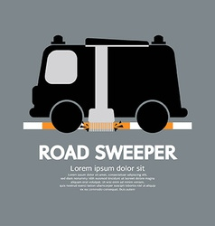 Road sweeper car vector