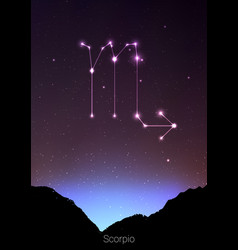 Scorpio zodiac constellations sign with forest vector