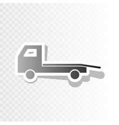 service of evacuation sign wrecking car side car vector image
