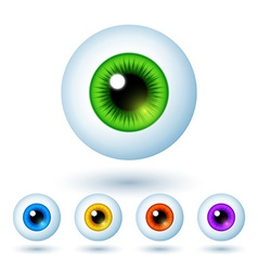 Set of Cartoon Colorful Eyes vector