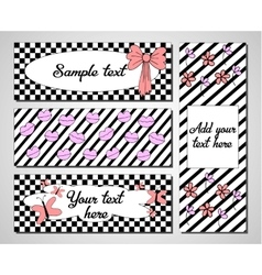 Set of creative universal cards Wedding vector
