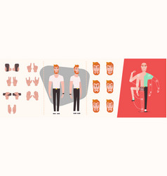 set people hands gestures and symbols isolated vector image