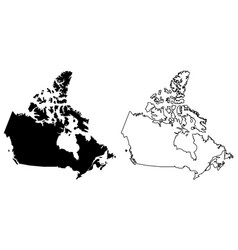 simple only sharp corners map canada drawing vector image