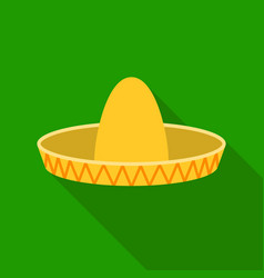 sombrero icon in flat style isolated on white vector image vector image