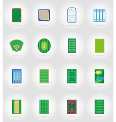 Sport flat icons 57 vector