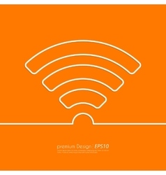 Stock Linear icon wi-fi vector image