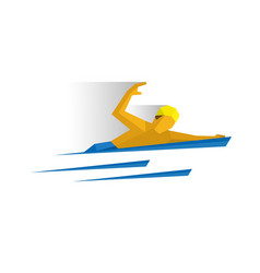 Swimmer in the water vector