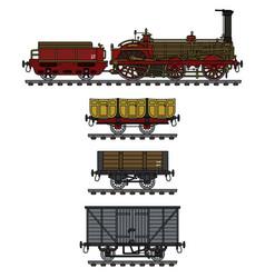 The vintage steam train vector