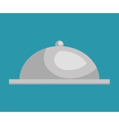 tray dish server silver icon vector image