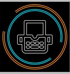 typewriter machine icon - type letter machine vector image