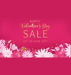 valentines day sale red magenta banner vector image