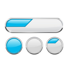 white and blue buttons vector image