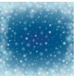 Winter defocused glowing backdrop with blur dots vector