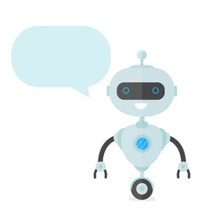 cute happy smiling funny robot chat bot vector image