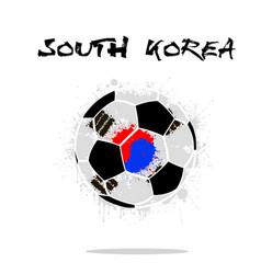 Flag of south korea as an abstract soccer ball vector