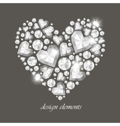 Heart of Diamonds vector image