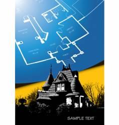 house blueprint vector image
