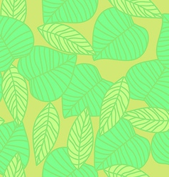 Leaves seamless pattern in vintage style vector image vector image