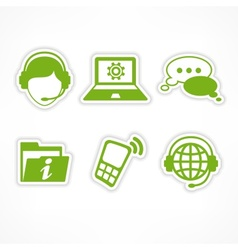 Customer support icons in vector image vector image