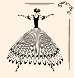 image of ballet woman vector image