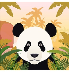 Panda on the Jungle Background vector image vector image