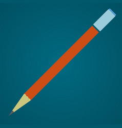 pencil with eraser schools supplies vector image vector image