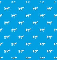 switzerland cow pattern seamless blue vector image vector image