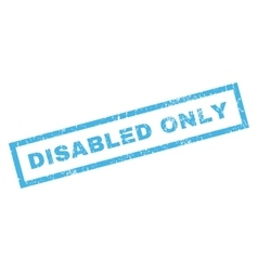 Disabled only rubber stamp vector