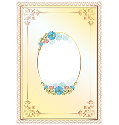 floral frame and border vector image