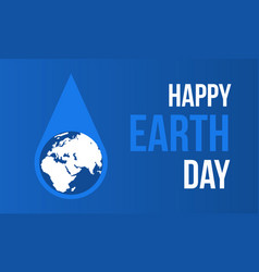 hppy earth day with water style vector image vector image