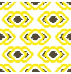 Ikat geometric seamless pattern Yellow and brown vector image vector image