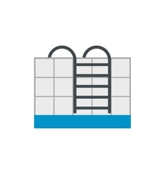 Stairs of the swimming pool flat icon vector image vector image