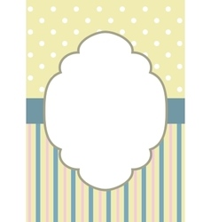 stripes and polka dot on yellow vector image