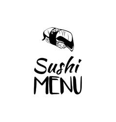 Sushi menu card design template vector image