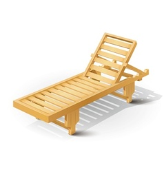 wooden beach bed vector image vector image