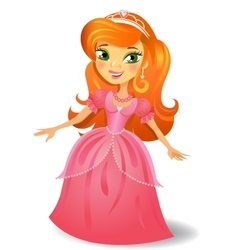 Beautiful red-haired princess vector image