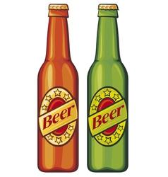 beer beer bottles vector image