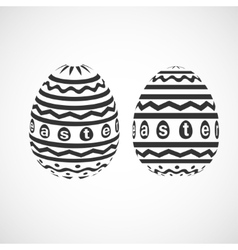 decorative Easter egg with monochrome ornament vector image vector image