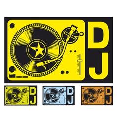 Dj music turntable vector