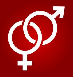 heterosexual glyph icon valentines day vector image