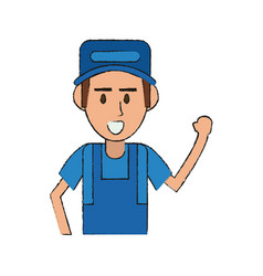 mechanic worker cartoon vector image vector image