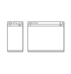 mobile and desktop browser mockup set vector image