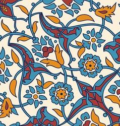 ornament paisley arabesque floral pattern tile vector image