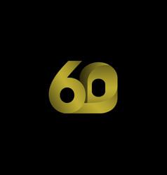 60 years anniversary celebration gradient gold vector